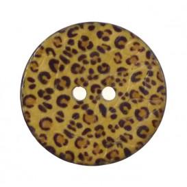 bouton coco imprimé panthère 30mm
