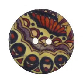 bouton coco imprimé papillon 30mm