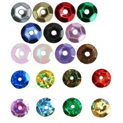 paillettes 8mm  5gr assortiment