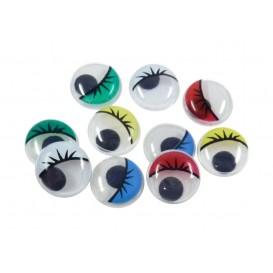 yeux mobiles couleur avec cils