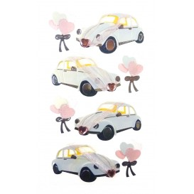 stickers auto mariage