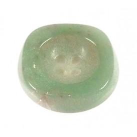 bouton creux vert pâle 21mm