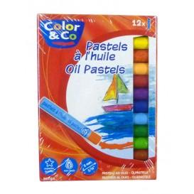 Boite de 12 pastels à l'huile