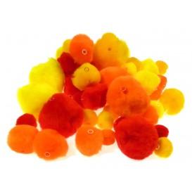 48 pompons perles camaieu orange
