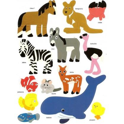 gommettes animaux 26 pièces n°2
