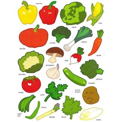 gommettes légumes 44 pièces