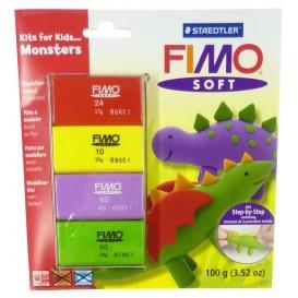 set pâte FIMO débutant dinosaures