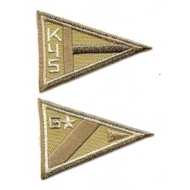 écusson triangle k4s & G beige