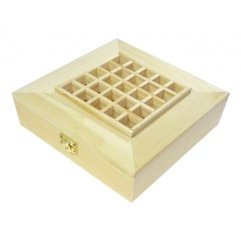 boite couvercle alveol en bois brut d corer. Black Bedroom Furniture Sets. Home Design Ideas