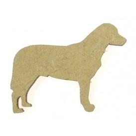 sujet en bois chien