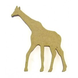 sujet en bois girafe