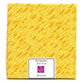 coupon patchwork imprimé jaune