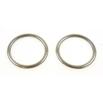 Prix 50% check-out meilleure vente anneaux rond 12mm x2