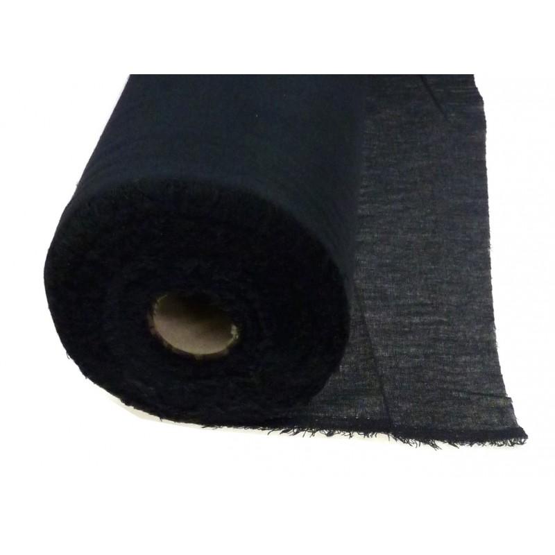 Toile lain e thermocollante noire parmentures au m tre - Toile au metre ...