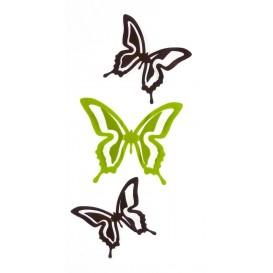papillons métal 3D aimant