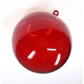 boule plastique cristal rouge 70mm