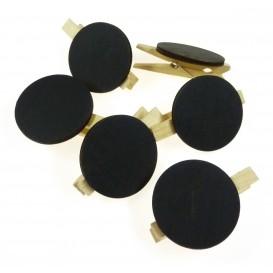 6 pinces à linge ardoise rond 45mm