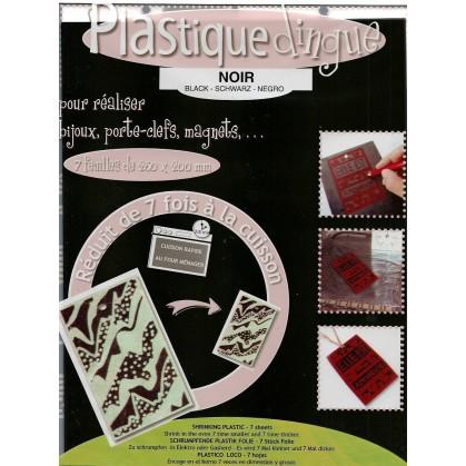 7 feuilles plastique dingue noir