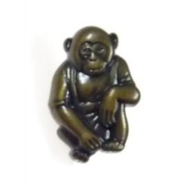 bouton enfant fantaisie singe bronze n°2