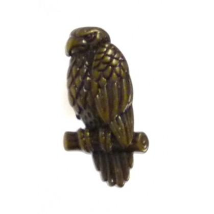 bouton enfant fantaisie aigle bronze