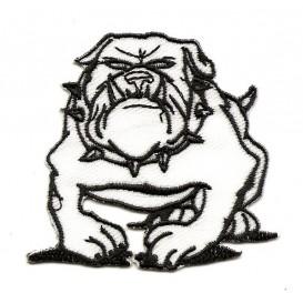 écusson pitbull noir et blanc thermocollant n°2