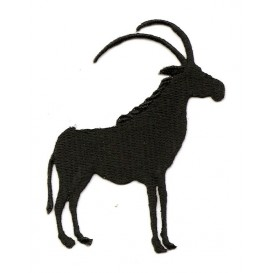 écusson oryx algazelle noir thermocollant