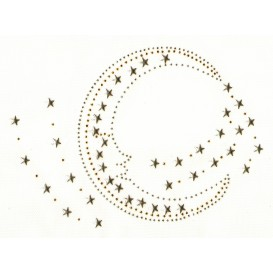 transfert en strass lune et étoiles 20x15cm