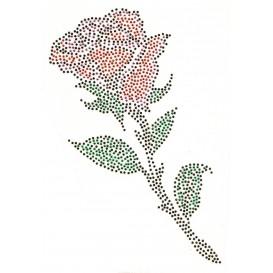 transfert en strass rose 12x23,5cm