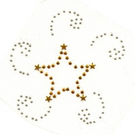 transfert en strass étoile 9x9,5cm