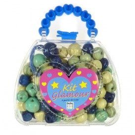 kit perles box glamour sac perle bleu