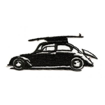 écusson voiture noir et blanc thermocollant n°2