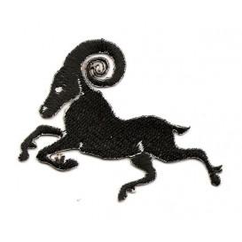 écusson mouflon noir et blanc thermocollant