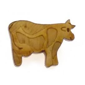 bouton fantaisie bois vache