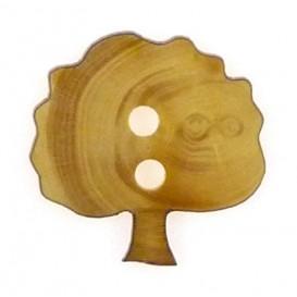 bouton fantaisie bois arbre 16mm