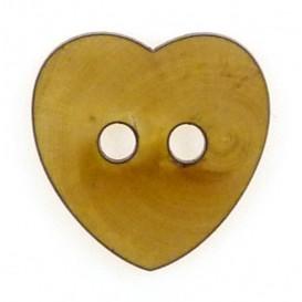 bouton fantaisie bois coeur 25mm