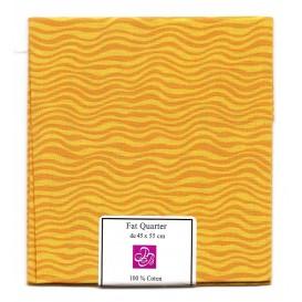 coupon patchwork imprimé vagues jaunes