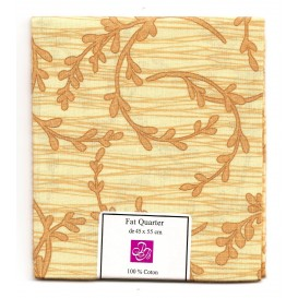 coupon patchwork imprimé branches marron