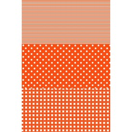 feuille décopatch pois rayures vichy orange
