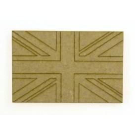 sujet en bois drapeau anglais