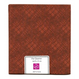 coupon patchwork imprimé gribouillage marron