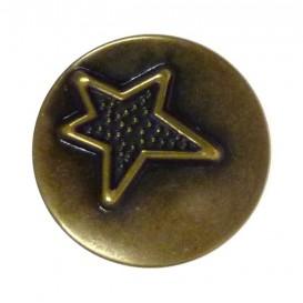 bouton en métal rond étoile 18mm