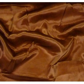 tissu satin marron largeur 140cm au mètre