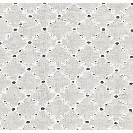 tissu broderie losange largeur 135cm au mètre
