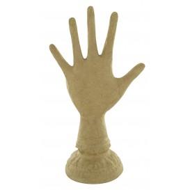 main porte bijoux en papier maché 27x15cm