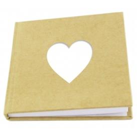 carnet mémo coeur en carton 80 pages 10,5x10,5cm