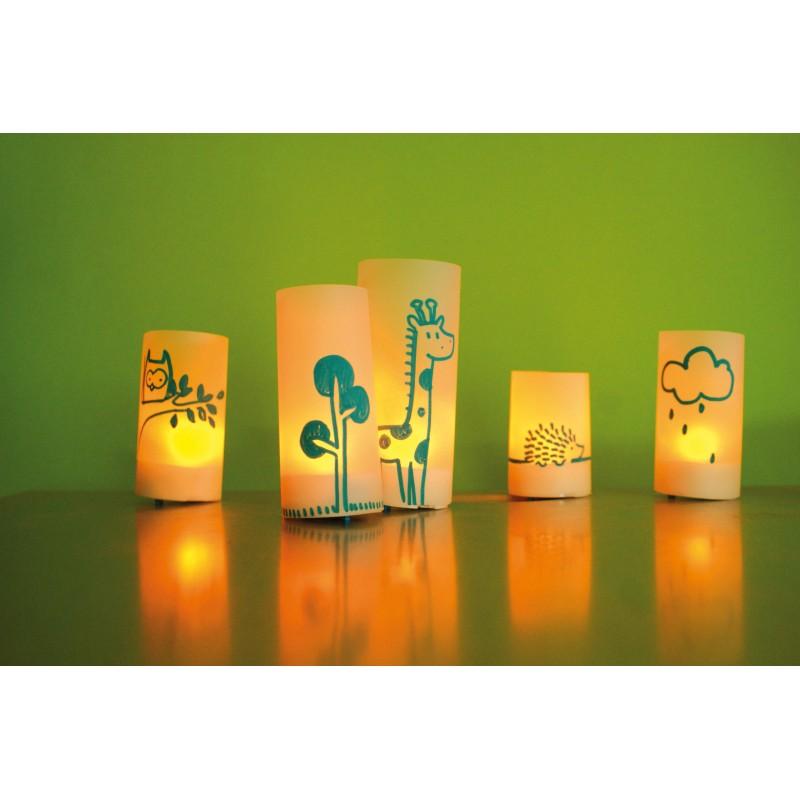 2 bougies scintillantes lectriques 2 piles. Black Bedroom Furniture Sets. Home Design Ideas