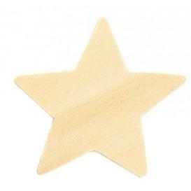 30 étoiles en bois tailles assorties