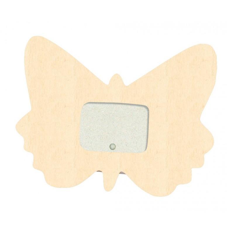 cadre photo papillon en bois 10x9cm d corer. Black Bedroom Furniture Sets. Home Design Ideas