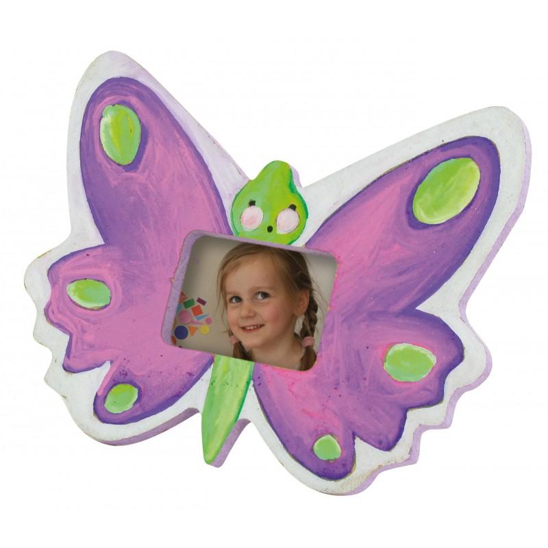 cadre photo papillon en bois 10x9cm à décorer