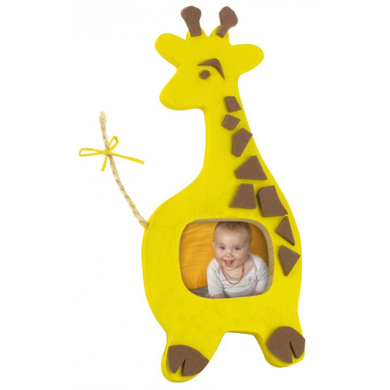 Cadre photo girafe en bois 12x6cm d corer for Cadre photo a decorer